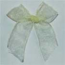 Translucent Lemon Ribbon Bows - Pkt 25